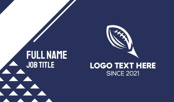 football equipment - White American Football  Business card horizontal design