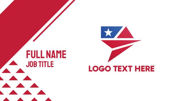 immigration - Flag Plane Business card horizontal design