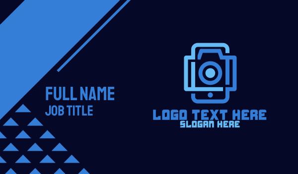 blue camera - Photography Gadget Business card horizontal design