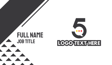 Number 5 Messaging Business Card