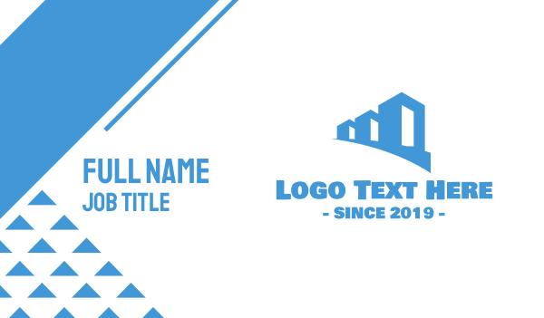 townhouses - Blue Properties Business card horizontal design