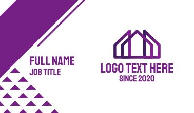 Purple House Business Card