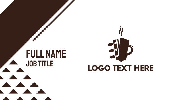 pop - Guitar Coffee Mug Business card horizontal design