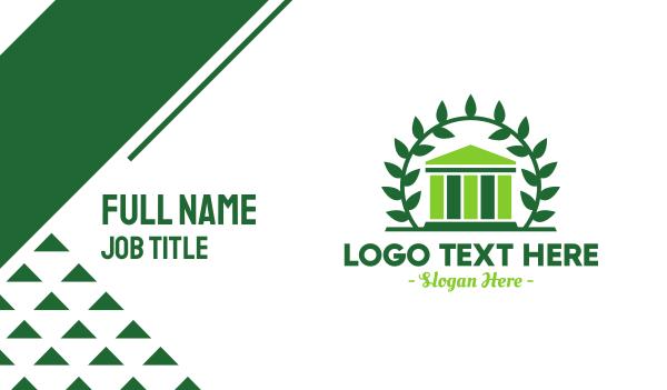 laurel - Green Laurel Museum Business card horizontal design