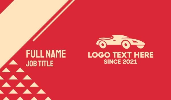 motorsport - Racing Sports Car Business card horizontal design