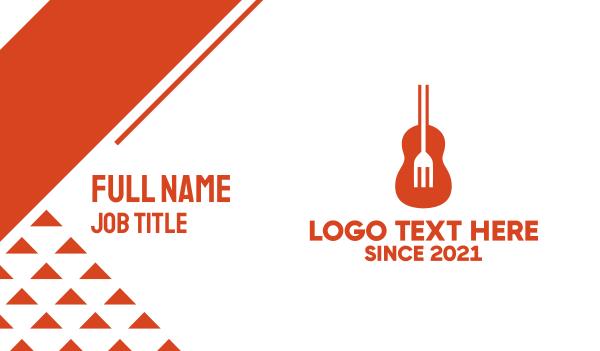 soul - Guitar Fork Business card horizontal design