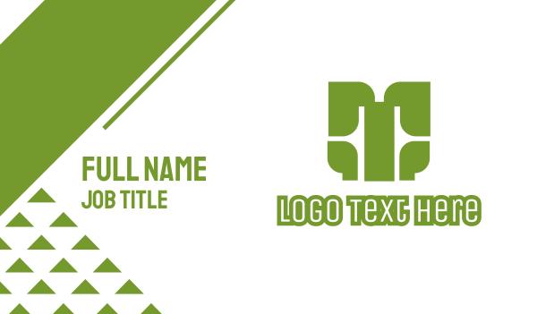 axe - Green T Axe Business card horizontal design