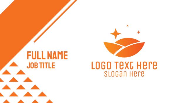 horizon - Orange Circle Landscape Business card horizontal design