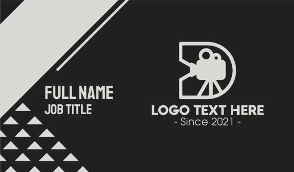 angle - Film Directing Letter D Business card horizontal design