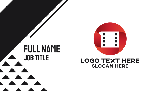 videographer - Youtube Red Film  Business card horizontal design