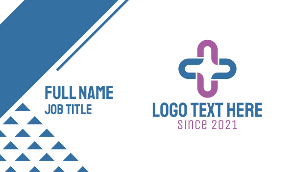 partnership - Generic Plus Cross Business card horizontal design
