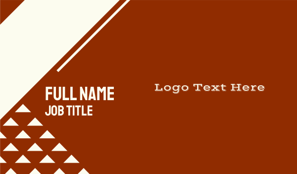 shadow - Wild West  Business card horizontal design