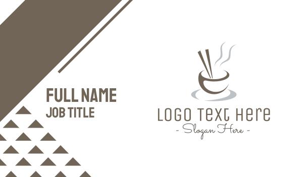 steam - Minimalist Asian Bowl Business card horizontal design
