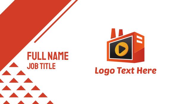 iptv - Media Radio Business card horizontal design