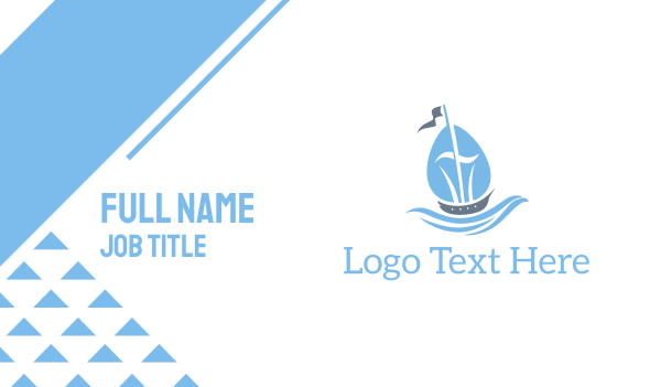 vessel - Blue Ship Business card horizontal design