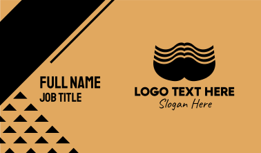 Big Male Mustache Business Card