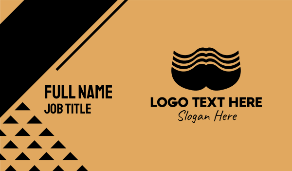 grooming - Big Male Mustache  Business card horizontal design