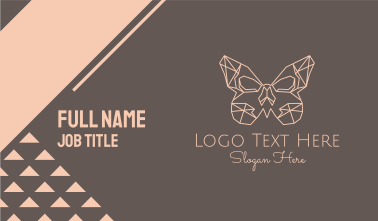 Geometric Butterfly Business Card