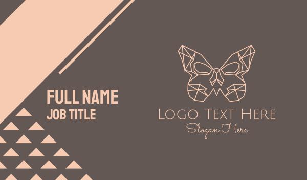 womenswear - Geometric Butterfly Business card horizontal design