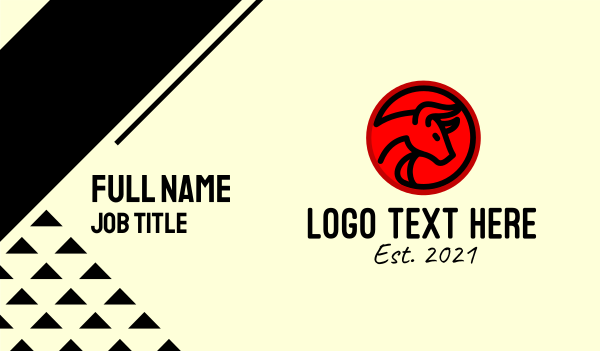 kung hei fat choy - Raging Bull  Business card horizontal design