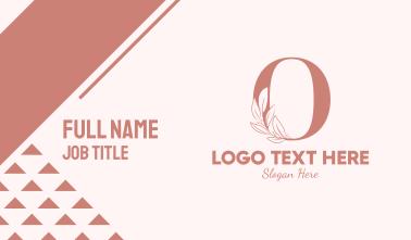 Elegant Leaves Letter O Business Card