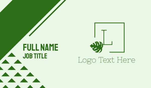 spring break - Tropical Green Lettermark Business card horizontal design