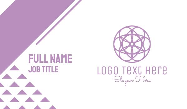 metaphysical - Circle Flower Business card horizontal design