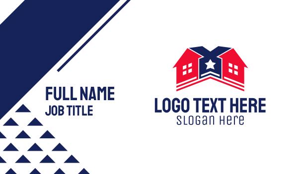 home builder - Star House Builder Business card horizontal design