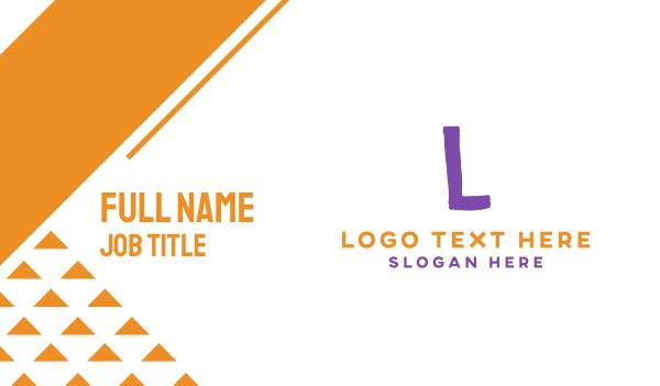 babysitting - Crayon Letter K Business card horizontal design