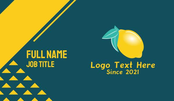 lemonade - Fresh Lemon Bar Business card horizontal design