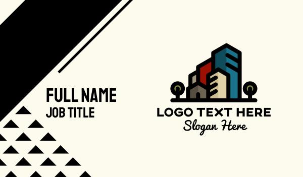 room - House & Buildings Business card horizontal design