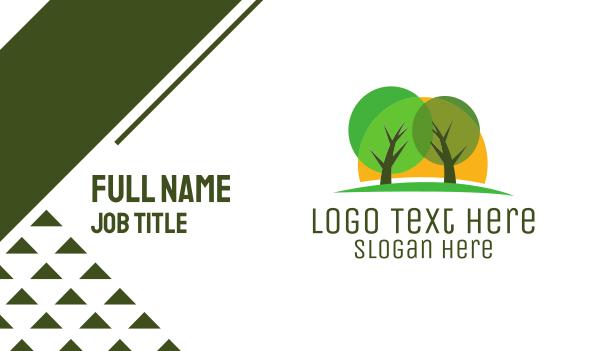 oak tree - Green Tree Park Business card horizontal design