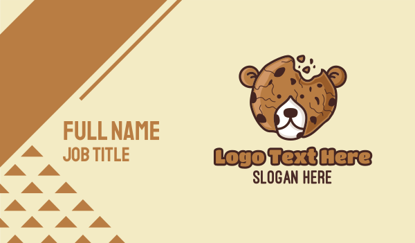fudge - Bear Choc Cookie Crumble Business card horizontal design