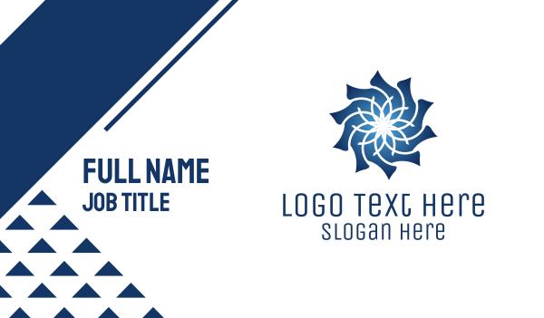 morocco - Blue Flower Business card horizontal design