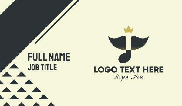 singing - Music Crown Queen Business card horizontal design
