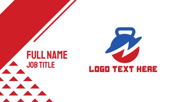 kettle - Thunder Kettle Bell Business card horizontal design