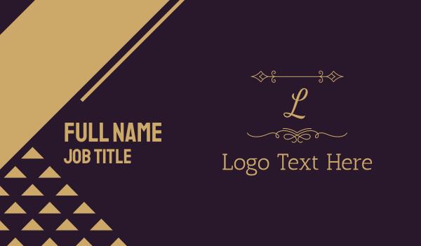aesthetics - Luxury Gold Letter Business card horizontal design