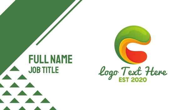 slug - Liquid Slime Letter C Business card horizontal design