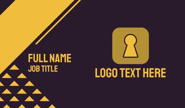 encrypted - Secure App Business card horizontal design