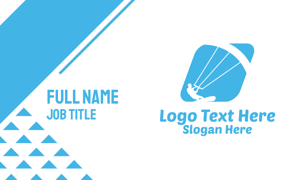 extreme - Blue Kitesurf Business card horizontal design