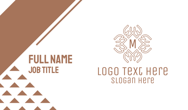 ancestral - Celtic Pattern Lettermark Business card horizontal design