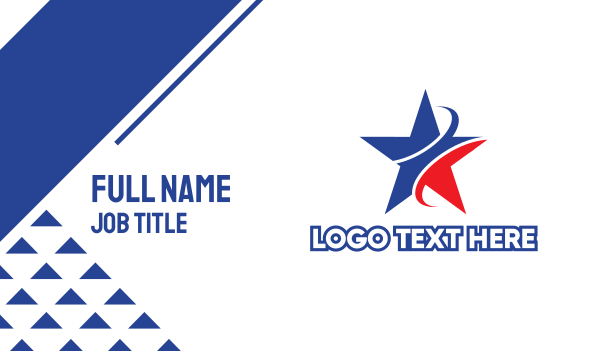 champion - Patriot Star  Business card horizontal design