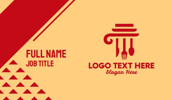 tableware - Kitchen Cooking Pillar  Business card horizontal design