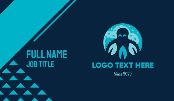 octopus - Happy Octopus  Business card horizontal design