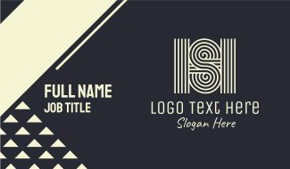 Letter S & H Business Card