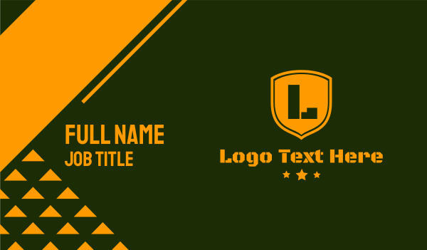 stencil - Army Clan Group Business card horizontal design