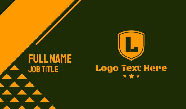 barracks - Army Clan Group Business card horizontal design