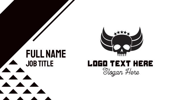 halo - Skull Wings Business card horizontal design