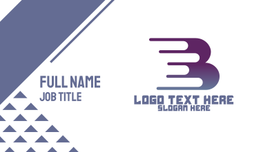 Quick Gradient Letter B Business Card