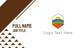 Hexagonal Landscape  Business Card